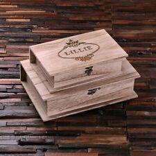 Personalized Wood Book Keepsake Box Small, Large, or Set of 2 Keepsake Mom Her