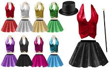 GIRLS Ringleader THE GREATEST SHOWMAN Costume SEQUIN Skirt OR BACKLESS Waistcoat