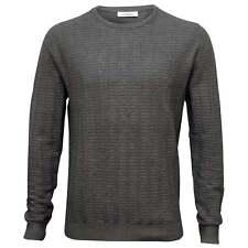 Calvin Klein Crew-Neck Ribbed Knit Men's Sweater, Grey Heather