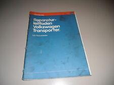 Werkstatthandbuch VW Transporter T3 Vergaser Motor 1979