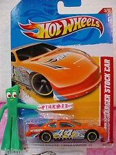 Case L/M 2012 i Hot Wheels DODGE CHARGER STOCK CAR #183∞Orange∞Thrill Racers