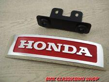 Honda  MONKEY BIKE 50 Z50A  Z50 Z50J FRONT PLATE LOGO  , Emblem / Chrome + Red