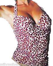 New Womens Cream Purple NEXT Tankini Top Size 34 32 A B C D DD E F RRP £20