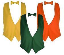 The Dragons Den S/M Backless Elasticated Autumn Waistcoat & Bowtie Fancy Dress