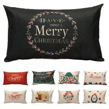 30*50cm Sofa Bedding Cushion Cover Letter Pillow Case Christmas Pillowcase