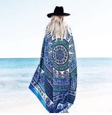 Women Large Beach Dress Bikini Bathing Swimwear Cover Up Sarong Wrap Scarf Pareo