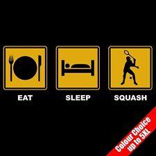 Comer dormir Squash Racketball Sport Raqueta divertida camiseta Regalos 16 Colores - A 5xl