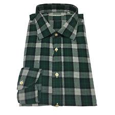 XACUS camicia uomo quadri verde vestibilità slim beluga washed 100% cotone
