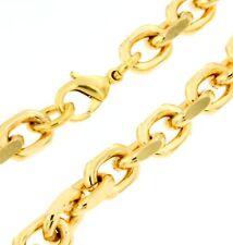 Ankerkette Gold Doublé 8mm 42-90cm Halskette Herrenkette Goldkette Herren Männer