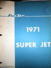 Sno Jet Factory Service Manual 1971 Super Jet