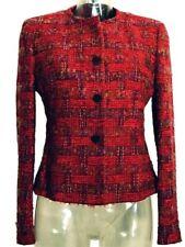 Blazer Giacca donna ANTONIO FUSCO Italy Tg. 42 Rosso Lana Bouclè modello Chanel