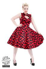 SALE!! BNWT H&R London Vintage Hearts Swing Dress Retro 50s RRP £50 szs 8 & 10