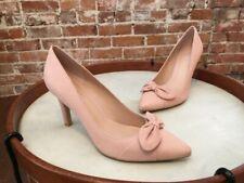 d6367c76f Franco Sarto Powder Pink Leather Arabella Bow Pointed Toe Pump NEW