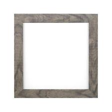 Shabby Chic Rustique GRAIN DE BOIS Instagram Carré Affiche Cadre photo gris
