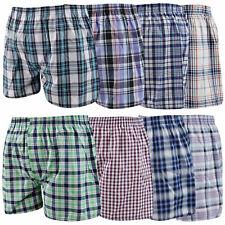 6  Pairs Mens Woven Boxer Shorts Cotton Rich Underwear Briefs S M L