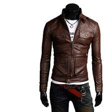 Giacca Giubbotto in Pelle Uomo Men Leather Jacket Veste Blouson Homme Cuir N13c