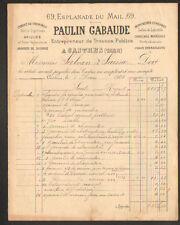 """CASTRES (81) Ets de TRAVAUX PUBLICS / BRIQUES & CIMENT """"Paulin GABAUDE"""" en 1901"""