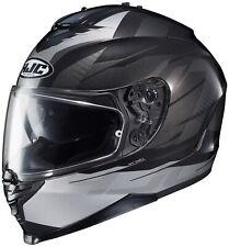HJC IS-17 Tario Motorcycle Helmet / Black/Grey - All Sizes