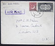 Flight Cover - Pakistan to London England - Sc# 46 1949  S1007