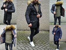 VERY SPECIAL HERREN LONG PARKER Winter Streetwear ClubSTYLE Rebell Mantel Jacke