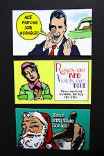 10-Pack WALLET WISECRACK CARDS funny gag novelty - business card size