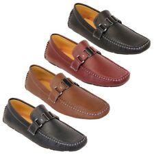 Hombre Mocasines Piel Sintética Zapatos Conducción Mocasines Sin Cordones barco