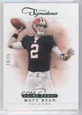 2012 Panini Prime Signatures Proof Green #12 Matt Ryan Atlanta Falcons Card