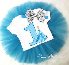 Disney Princess Cinderella 1st First Birthday Baby Girl Tutu Outfit Shirt sq