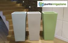 Vaso resina quadrato alto vasi moderni H 85 x34x38 con cache pot colori pastello