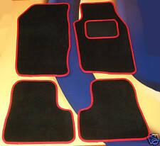 PEUGEOT 206 PREMIER BLACK CAR MATS WITH RED EDGE. B