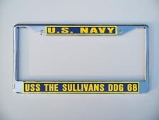 Uss The Sullivans Ddg 68 License Plate Frame U S Navy Usn Military