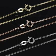 ECHT 333-585-750er GOLD KETTE PANZERKETTE Gold Halskette Collier Damen Herren