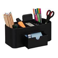 Stiftehalter in Lederoptik Schreibtischorganizer Stifteköcher Tischorganizer