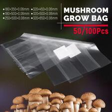 Set 50/100 PVC Mushroom Spawn Grow Bag Substrate High Temperature Pre Sealable J