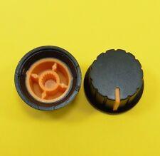 Controllo Volume Potenziometro AMPLIFICATORE Manopola 6 mm foro dell'albero Arancione Cappuccio ZIGRINATO