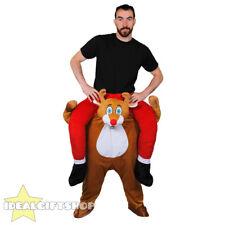 Renna prendermi Natale costume piggy back Divertente Natale Novità Costume