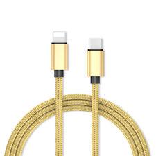 Cable nylon USB C Type C Thunderbolt 3 Lightning Chargeur Sync iPhone Macbook 1m