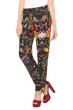 Desigual Lightweight Black & Bright Eleonor Trousers 26-34 UK 8-16 RRP�79