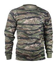 Tiger Stripe Camo Long Sleeve Tactical Military T-Shirt 66787 Rothco