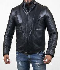 US Men Leather Jacket Hommes veste cuir Herren Lederjacke chaqueta de cuero Q45