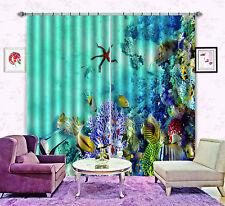 3D Sea World 18 Blockout Photo Curtain Printing Curtains Drapes Fabric Window CA