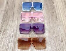 Oversized XXL BETTY Square Flat Top Aviator Fashion Lauren MASK Sunglasses 1826