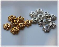 100 Perlenkappen Perlkappen Silber Gold 6 mm Endkappen Basteln