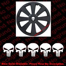 5 pc x PUNISHER SKULL Military Die Cut Vinyl Decal Wheel Center Cap Jeep SK001