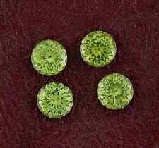 Eight 2.5mm Brilliant Round Peridot Gemstone Natural San Carlos Arizona AAA Gem