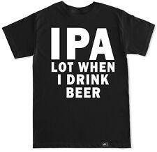 IPA BEER FUNNY HUMOR DRAFT BOTTLE PEE BAR JOKES DRINK DRUNK ALCOHOL MENS T SHIRT