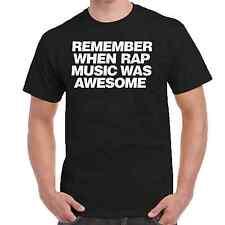 Men's Tee REMEMBER RAP T-Shirt Compton Gangster Dre Eazy NWA Tupac Music