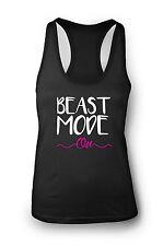 """Beast"""" Mode On """"Camiseta de Gimnasio Mujer Espalda De Nadador Yoga Ejercicio"""