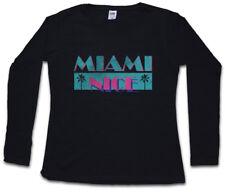 MIAMI NICE DAMEN LANGARM T-SHIRT USA Florida Sea Beach Palms Bar and Grill Vice