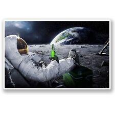 2 x Astronaut Space Vinyl Sticker Laptop Travel Luggage Car #5082